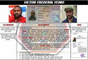 Satgas Nemangkawi Tangkap Viktor Yeimo Dalang Kerusuhan Papua 2019